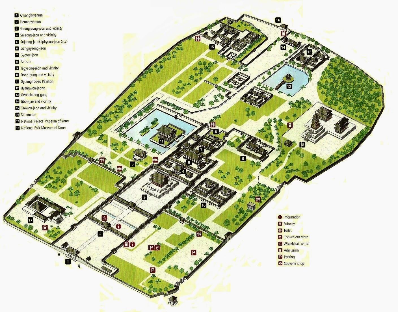 Seoul Subway Map English 2014.Gyeongbokgung Palace Map English The Soul Of Seoul